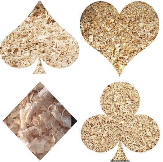 dried wood sawdust